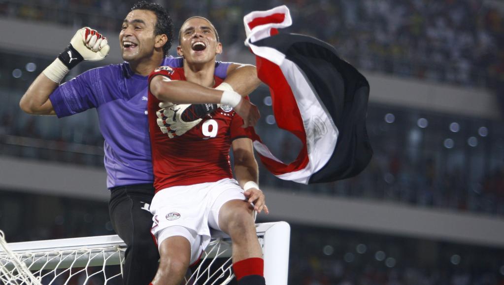 Essam El-Hadary and Mohamed Zidan