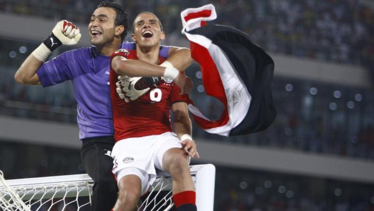 Essam El-Hadary and Mohamed Zidan